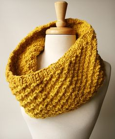 http://www.ElenaRosenberg.com Soleil Knit Cowl - made-to-order in custom colors & materials