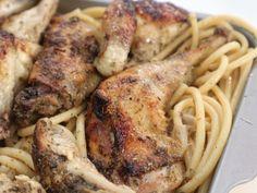 Κοτόπουλο ριγανάτο με χοντρά μακαρόνια Meat, Chicken, Cooking, Food, Kitchen, Kochen, Meals, Yemek, Brewing