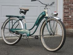 "1950'S rollfast 26"" 100% original. tires headlight horntank vintage bicycle bike 
