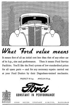 """Ford ad 1947 """"What Ford value means"""""""