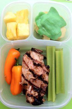 Grilled Chicken Bento - RachelsRandom.com #easylunchboxes #bento #leftovers @Kelly Lester / EasyLunchboxes