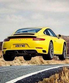 Porsche 911 catching air