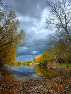Beautiful Carburn Park with an approaching storm. #storm #photography #photo #outdoor #weather #calgary #nature #landscape #pond #rain...