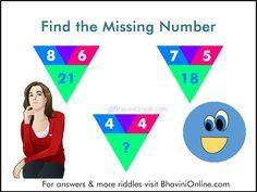 Look at the numbers in the picture riddle and find the connection between them. Once, you find the logic behind the numbers you will be able to find the missing number. So were you able to solve the riddle? Leave your answers in the comment section below. You can check if your answer is correct Read more →
