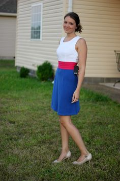 Love this bold, fun Stitch Fix Dita Colorblock Sleeveless Ponte Dress. Great colors and a perfect style for the office.