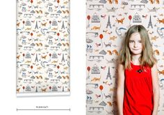 little cube for muffin and mani wallpapers-paris Scandi Wallpaper, Paris Wallpaper, Nursery Wallpaper, Kids Wallpaper, Wallpaper Ideas, Paris Nursery, Little Tykes, Bathroom Kids, Bathrooms