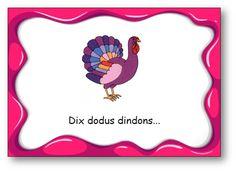 "Virelangue ""Dix dodus dindons"" French Classroom, Reading Games, Phonics, Back To School, Alphabet, Language, Teaching, Montessori, Centre"