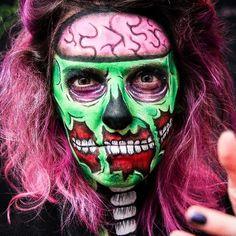 Bom dia pra você que transformou a @kahbak no ZUMBI MAIS ESTILOSO desse mundo! Tutorial completo já tá lá no canal! Youtube.com/nayfirens #NayEspecialHalloween #Zumbi #Popart #Zombie #Halloween #NayMaquiagemArtistica