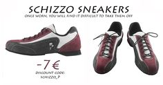 "Schizzo Sneakers in special offer until 30 April 2016!! Italian Tango Shoes is pleased to offer a 7 € voucher discount for the purchase of Schizzo sneakers! Insert the code ""SCHIZZO_P"" in the voucher's box during a purchase. http://www.italiantangoshoes.com/shop/en/11-sneakers"