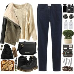autumn by lelia-25 on Polyvore featuring Toast, Dr. Martens, MICHAEL Michael Kors, Kendra Scott, Narciso Rodriguez, Calvin Klein, Uttermost, Tea Collection, Forever 21 and Polaroid