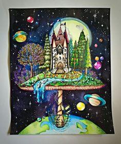 Mushroom Castle Enchanted Forest By Denny Idema