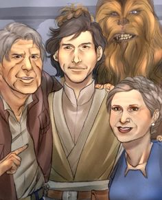 Ben Solo (Kylo Ren) with family before his turn.