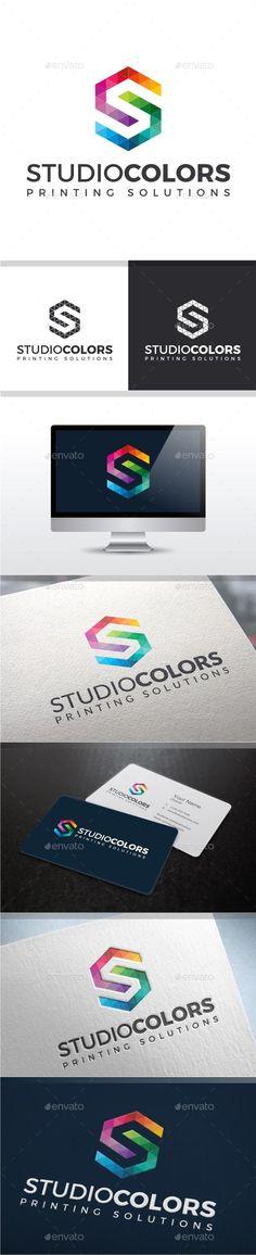 Studio Colors - Letter S Logo: Letter Logo Design Template by yopie. S Logo Design, Logo Design Template, Logo Templates, Module Design, Triangle Logo, Triangle Vector, Logo Branding, Logos, Illustrator Tutorials
