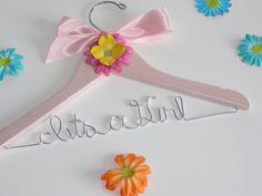 CUSTOM Baby Girl Hanger Custom Hanger Baby by DelfinasCreations, $15.00