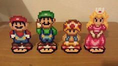 Super Mario Brothers Set Perler Beads by PixelationSensations