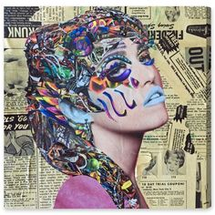 "Oliver Gal ""Hieroglyphics by Katy Hirschfeld"" Canvas Art"