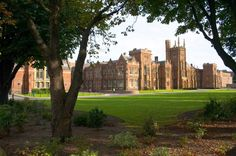 This is Queens University Belfast and where I go to school!  Looks a lot like Hogwards :)