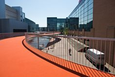This Bright Orange Skyway Is Copenhagen's Newest Bike Lane #architecture