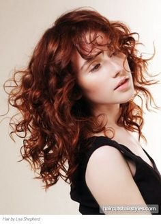 Long Red Curly Hair Style