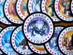 Skylanders Birthday - Thank you tags
