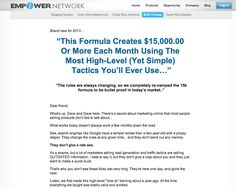 Hello Dear Friends just go through.You may be interested!!  Empower Network: 15K Formula