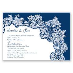 Lacy Delight - Marine - Invitation
