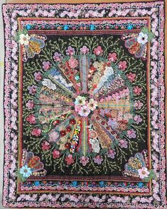 I ❤ crazy quilting, beading & ribbon embroidery . . . Stunning work ~By Nina Lazar of Liege, Belgium
