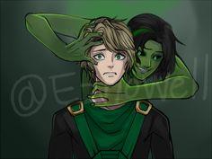 Lloyd and Morro http://my-beautiful-ninja-go.tumblr.com/