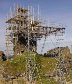 Girnigoe Castle - Scaffolding Reaching Epic Proportions