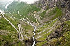 Trollstigen, Norway - This winding road in Norway is one of the most spectular manmade views in the country.