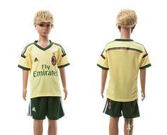 AC Milan Away Kids Soccer Jersey 14-15 Season