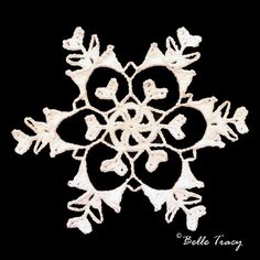 365 Crochet Snowflakes By Belle Tracy Free Crochet Snowflake Patterns, Crochet Snowflakes, Crochet Stitches Patterns, Christmas Snowflakes, Crochet Motif, Stitch Patterns, Christmas Tag, Crochet Christmas Decorations, Stars