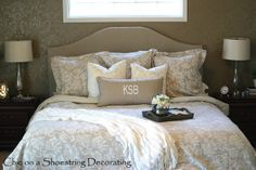 Chic on a Shoestring Decorating: How to Make an Upholstered Headboard