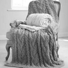 Couvre-lit en tricot... tout doux