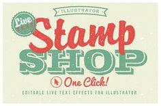 Stamp Shop by designdell on Creative Market