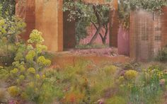 Sarah Prices sketch design for the MG Garden which were building at RHS Chelsea Flower Show 2018 Rhs Flower Show, Chelsea Flower Show 2018, Plant Design, Garden Design, Mediterranean Plants, Chelsea Garden, Garden Pictures, Gardening For Beginners, Gardening Tips