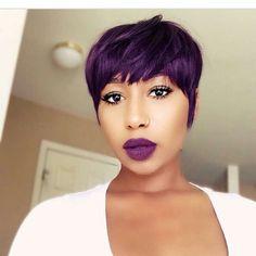 purple pixie-cut