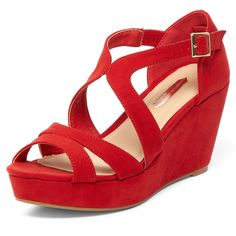 Red Low Wedges @ Dorothy Perkins