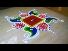 New Beautiful Swastik Rangoli Design. - YouTube