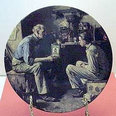 """Norman Rockwell Heritage """"The Apprentice"""" Collector Plate Norman Rockwell, Plates, Display, Collection, Licence Plates, Floor Space, Dishes, Billboard, Plate"""