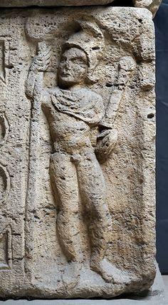 Detalle del sarcófago de Marcus Aurelius Valens. Szöny (Komárom-Esztergom, Hungria). Primera mitad del siglo III d.C. Wien - Kunsthistorisches Museum Inv. nº III 94