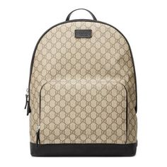 Shop the GG Supreme backpack by Gucci. GG Supreme canvas backpack, finished with black leather details and rubberized hardware. Sport Chic, Michael Kors Rucksack, Supreme Backpack, Men's Backpacks, Canvas Backpacks, Leather Backpacks, Nylons, Gucci Gifts, Shoes