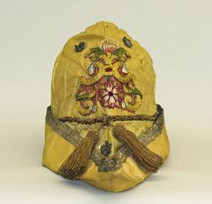 Hat (Italian) ca. 1500s silk, metallic thread