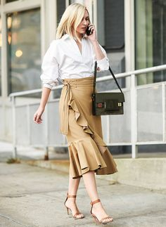 Camel street style outfit.