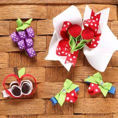 fruity bow/clip ideas