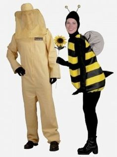 Cute Halloween costumes for couples - Bumble Bee and Beekeeper