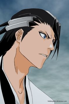 Kuchiki Byakuya by Mangsney Bleach Characters, Anime Characters, Anime Demon, Manga Anime, Anime Love, Anime Guys, Bleach Captains, Ichimaru Gin, Bleach Funny