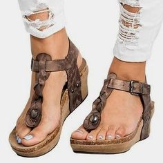 4035ecdbf2f29 Genepeg Womens Sandals Summer Shoes Casual Low Heels Buckled Outdoor Flip  Flops Slippers     We do hope that you do like our image.