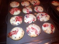 chocolate chip fruit explosion muffins