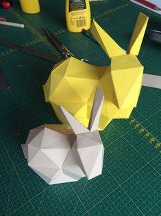 osterhasen basteln aus papier freebie with pattern download origami pinterest ostern. Black Bedroom Furniture Sets. Home Design Ideas